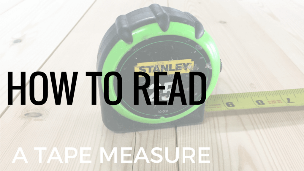learn how to read a tape measure